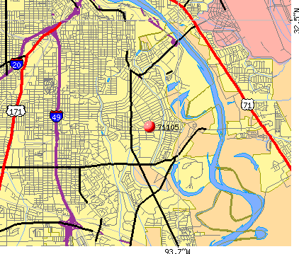 Shreveport, LA (71105) map