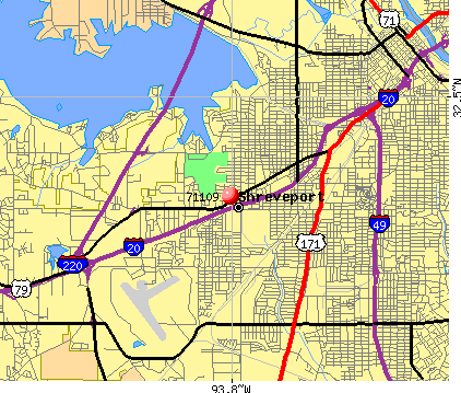 Shreveport, LA (71109) map