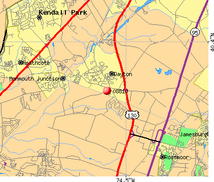 Dayton, NJ (08810) map