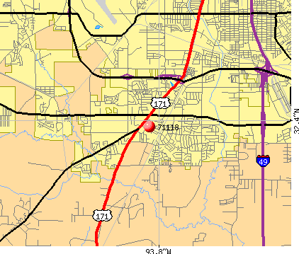 Shreveport, LA (71118) map