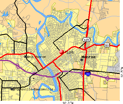 Monroe, LA (71201) map