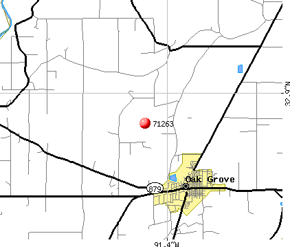 Oak Grove, LA (71263) map