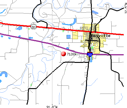 Rayville, LA (71269) map