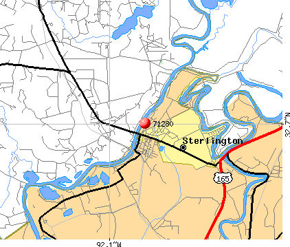 Sterlington, LA (71280) map