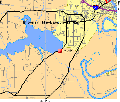 Bawcomville, LA (71292) map