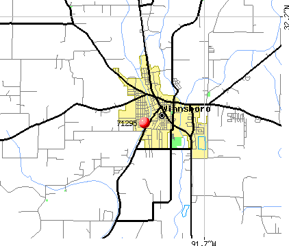 Winnsboro, LA (71295) map