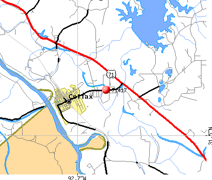 Rock Hill, LA (71417) map
