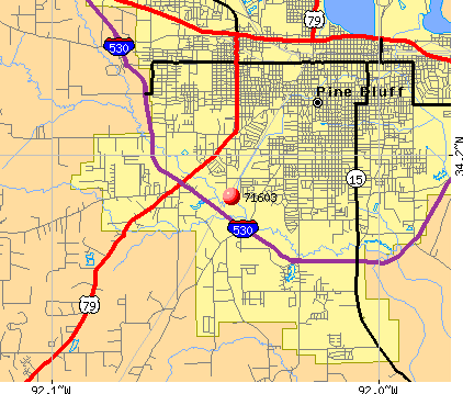 Pine Bluff, AR (71603) map