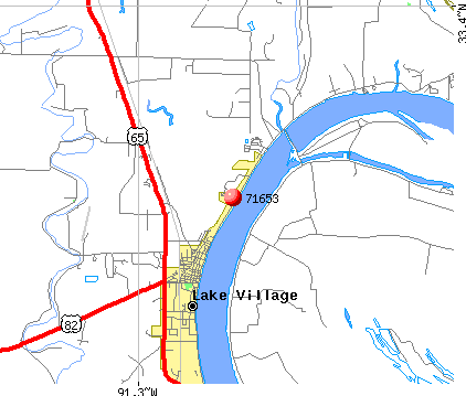 Lake Village, AR (71653) map