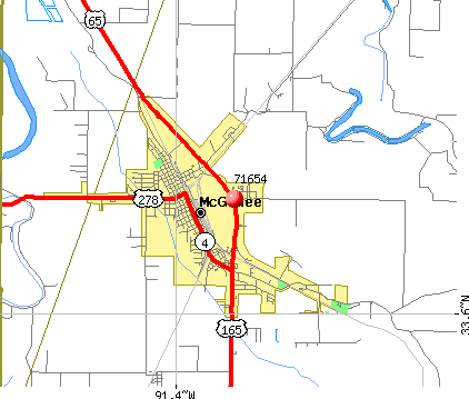 McGehee, AR (71654) map