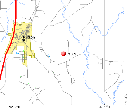 Rison, AR (71665) map