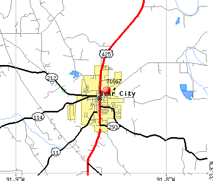 Star City, AR (71667) map