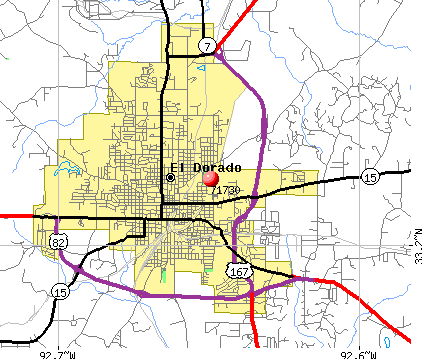 El Dorado, AR (71730) map
