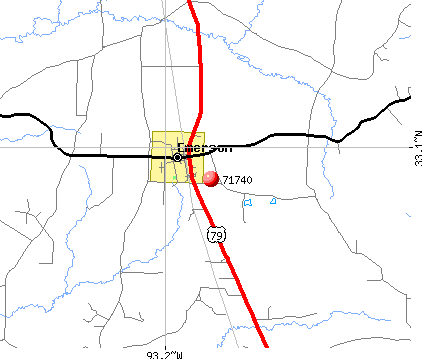Emerson, AR (71740) map