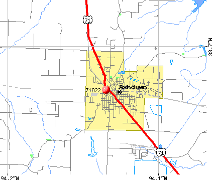 Ashdown, AR (71822) map