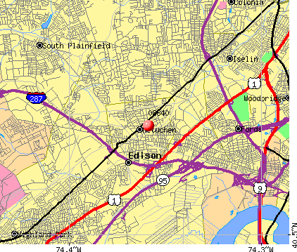 Metuchen, NJ (08840) map