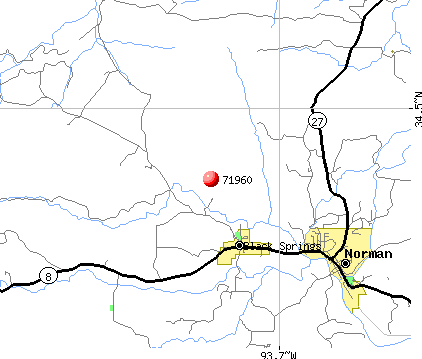 Norman, AR (71960) map