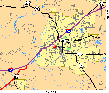 Benton, AR (72015) map
