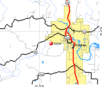 Clinton, AR (72031) map