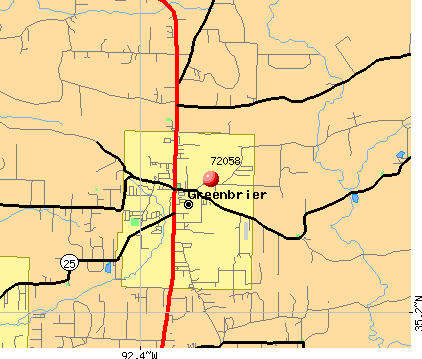 Greenbrier, AR (72058) map