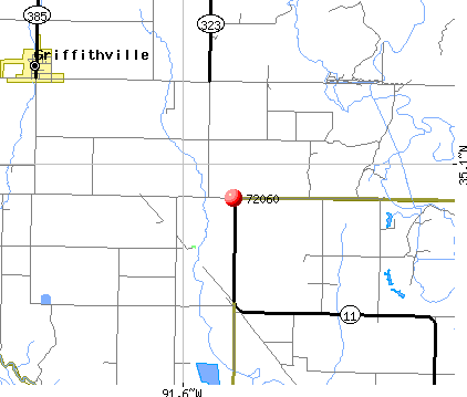Griffithville, AR (72060) map