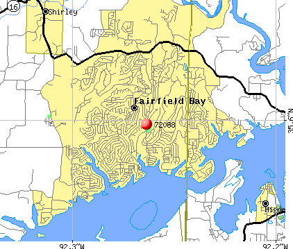 Fairfield Bay, AR (72088) map