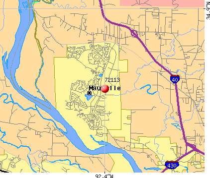 Maumelle, AR (72113) map