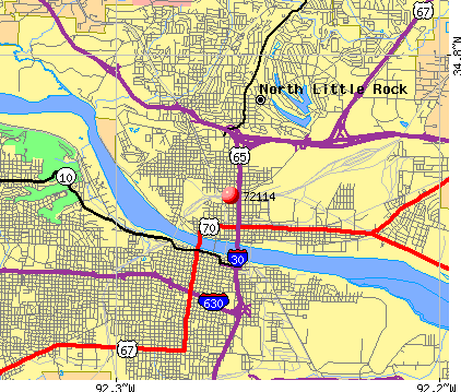 North Little Rock, AR (72114) map