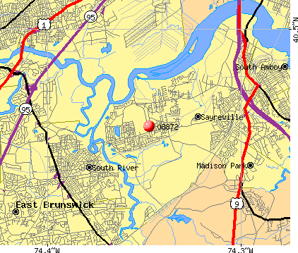 Sayreville, NJ (08872) map