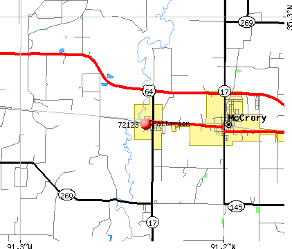 Patterson, AR (72123) map