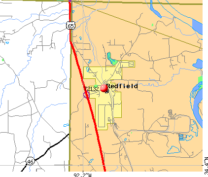 Redfield, AR (72132) map