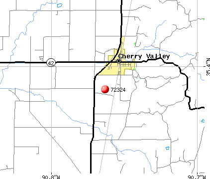 Cherry Valley, AR (72324) map