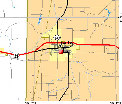 Earle, AR (72331) map