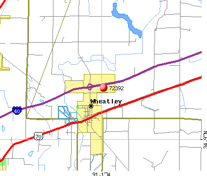 Wheatley, AR (72392) map