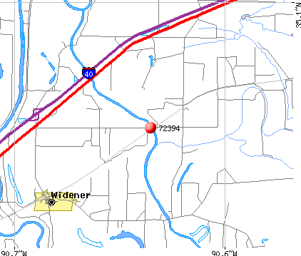 Widener, AR (72394) map