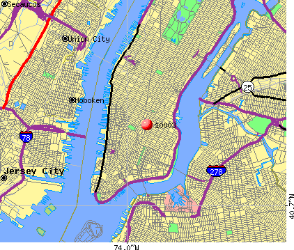 New York, NY (10003) map