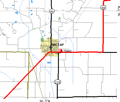Rector, AR (72461) map