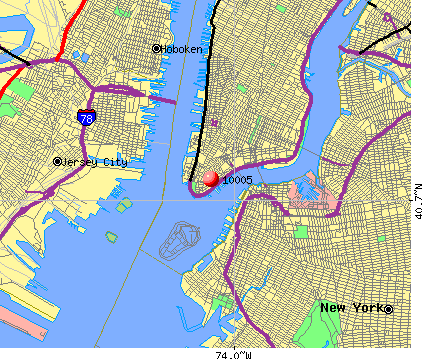 New York, NY (10005) map
