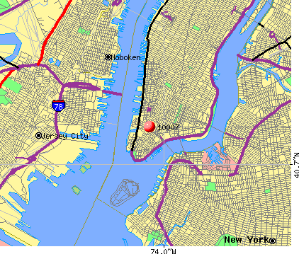New York, NY (10007) map