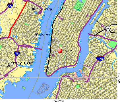 New York, NY (10012) map