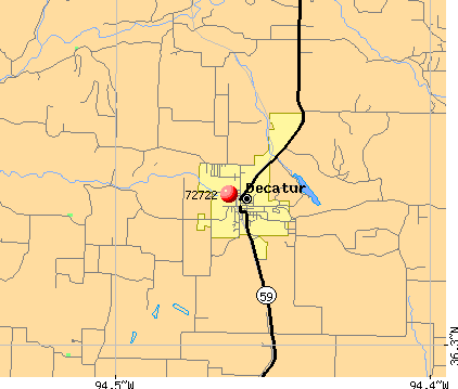 Decatur, AR (72722) map