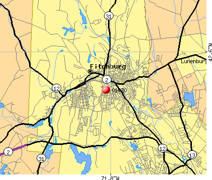 Fitchburg, MA (01420) map