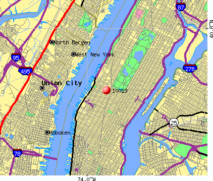 New York, NY (10019) map