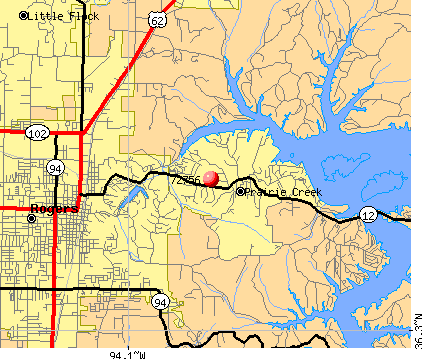 Rogers, AR (72756) map