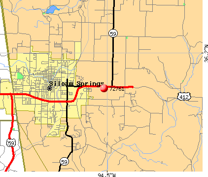 Siloam Springs, AR (72761) map