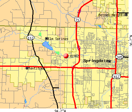 Springdale, AR (72762) map