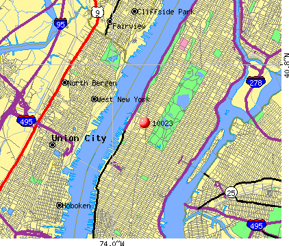New York, NY (10023) map