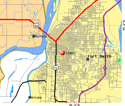 Fort Smith, AR (72901) map