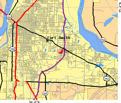 Fort Smith, AR (72903) map