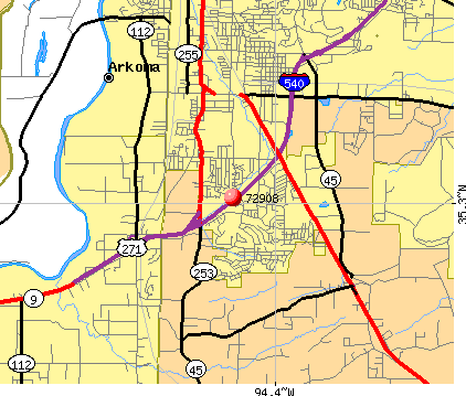 Fort Smith, AR (72908) map